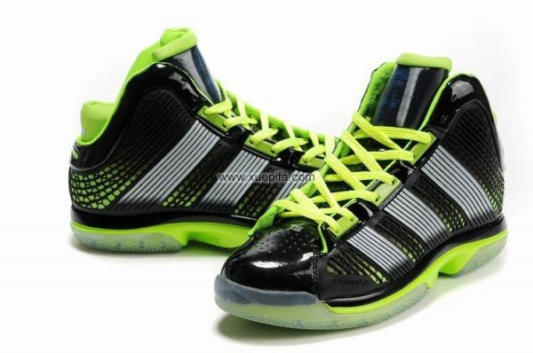Adidas阿迪霍华德篮球鞋2011新款疾速乘双战靴黑绿男