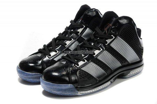 Adidas阿迪霍华德篮球鞋2011新款疾速乘双战靴黑银男