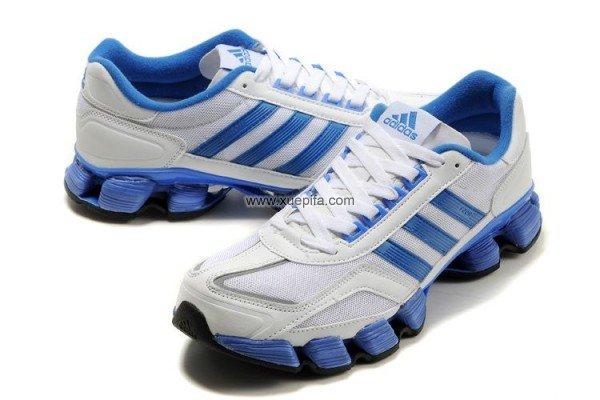 霍华德6代战靴_Adidas阿迪坦克 2012新款bounce轮二代跑鞋白宝蓝 男-运动鞋批发网